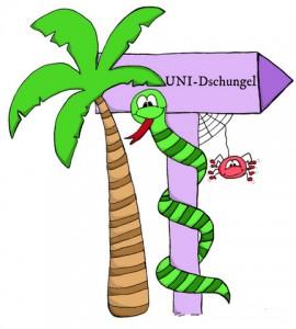 Früheres Uni-Dschungel Logo www.uni-dschungel.de