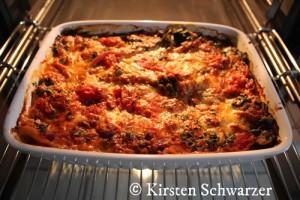 Die Uni-Dschungel Lasagne frisch aus dem Ofen