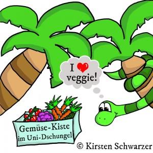 Eine vegetarische Reise durch den Uni-Dschungel
