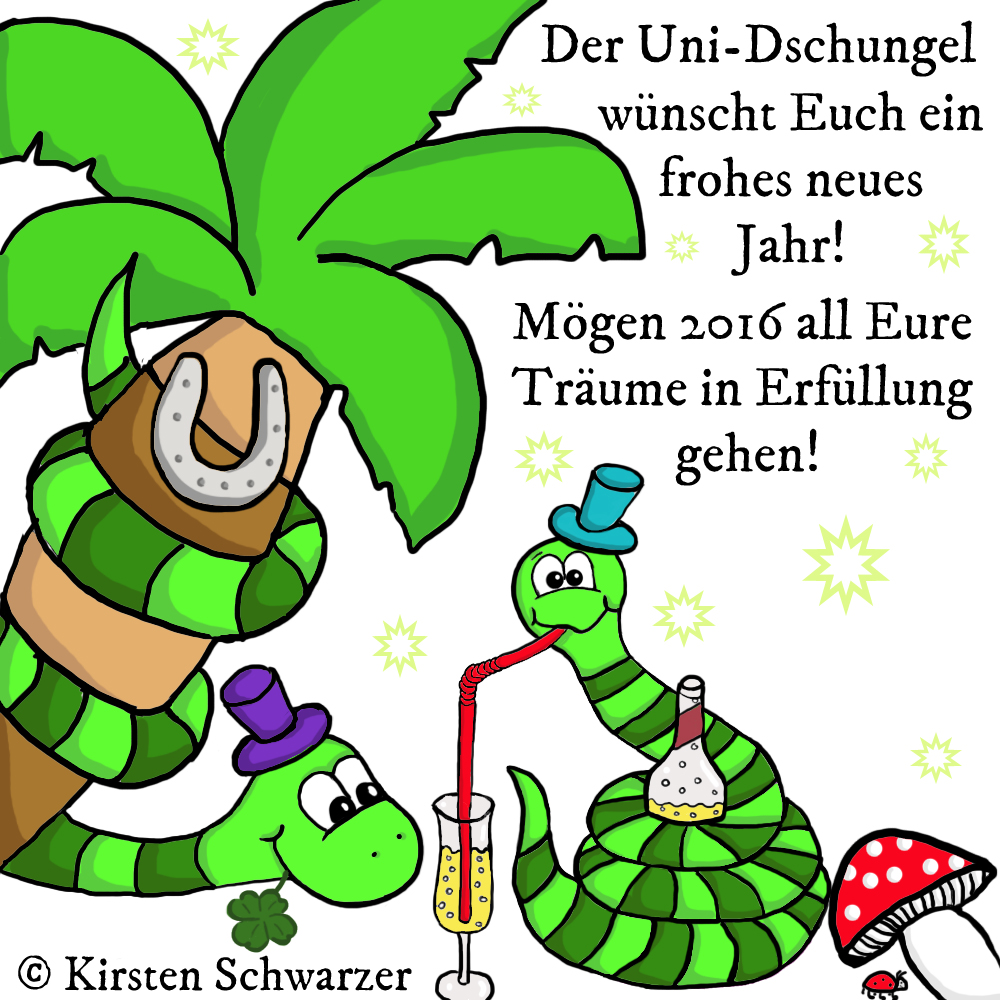 Happy New Year im Uni-Dschungel