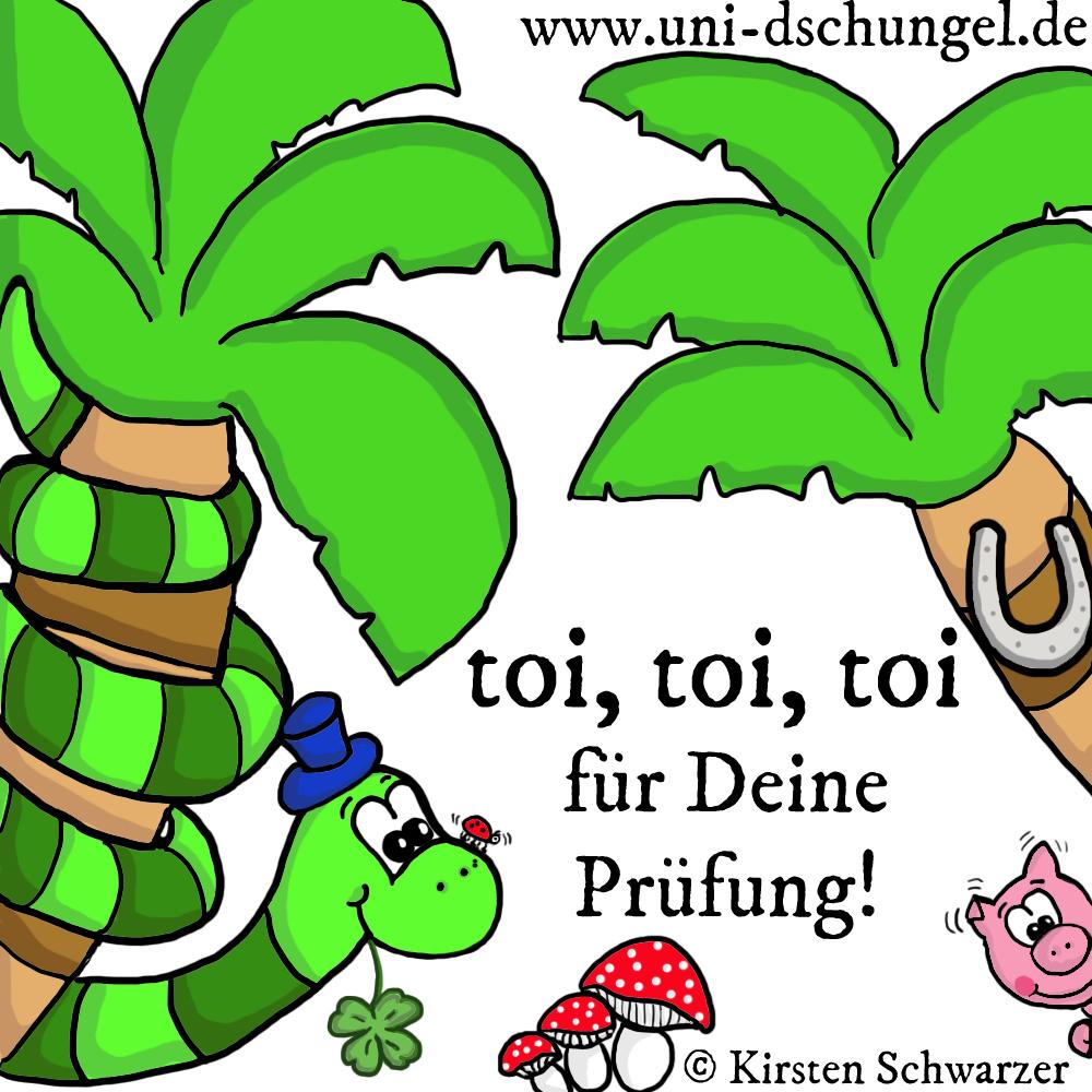 Toi, toi, toi für die Prüfungen!, www.uni-dschungel.de, Kirsten Schwarzer