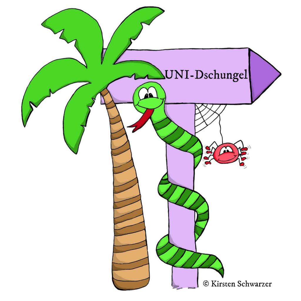 Früheres Logo Uni-Dschungel Blog www.uni-dschungel.de