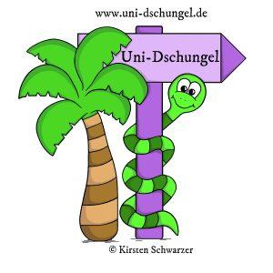 Logo Uni-Dschungel Blog, www.uni-dschungel.de, Kirsten Schwarzer