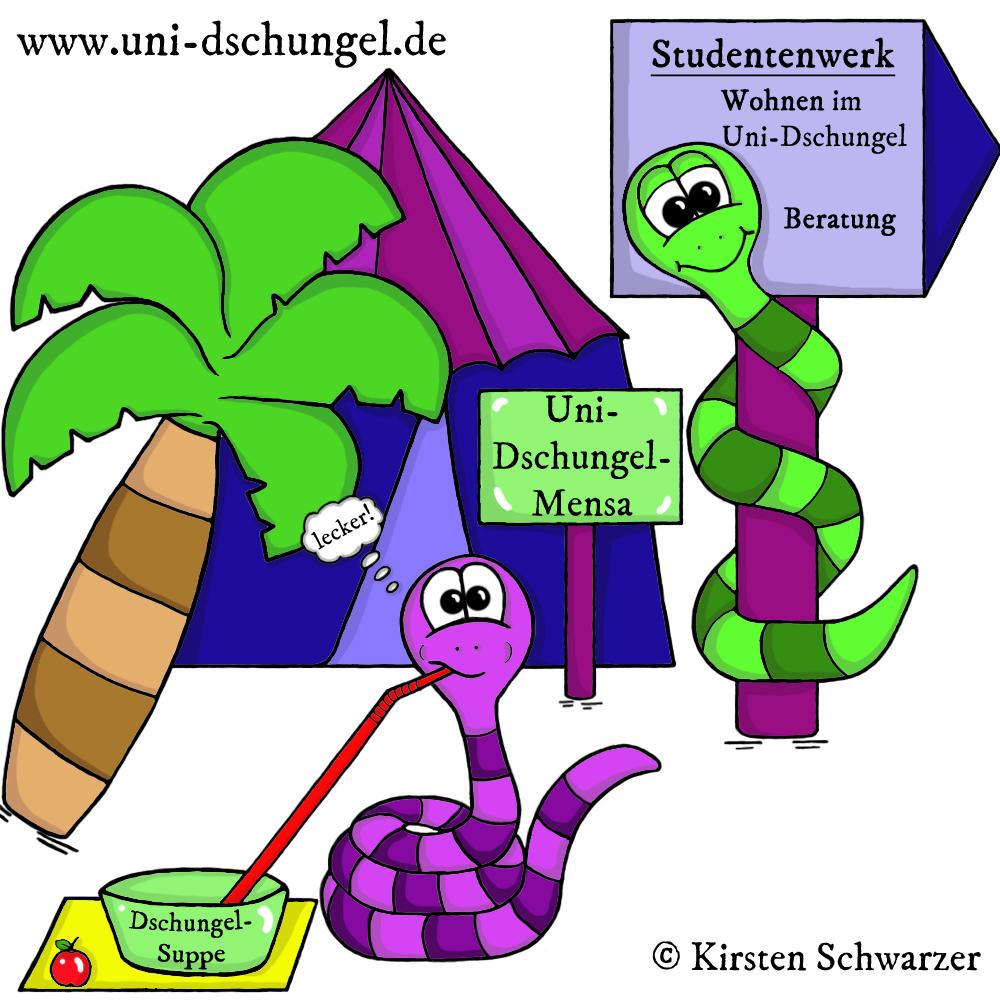 Das Rundum-sorglos-Paket im Uni-Dschungel: Dein Studentenwerk, www.uni-dschungel.de, Kirsten Schwarzer