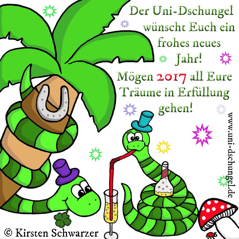 Ein glückliches neues Jahr im Uni-Dschungel,  www.uni-dschungel.de, Kirsten Schwarzer