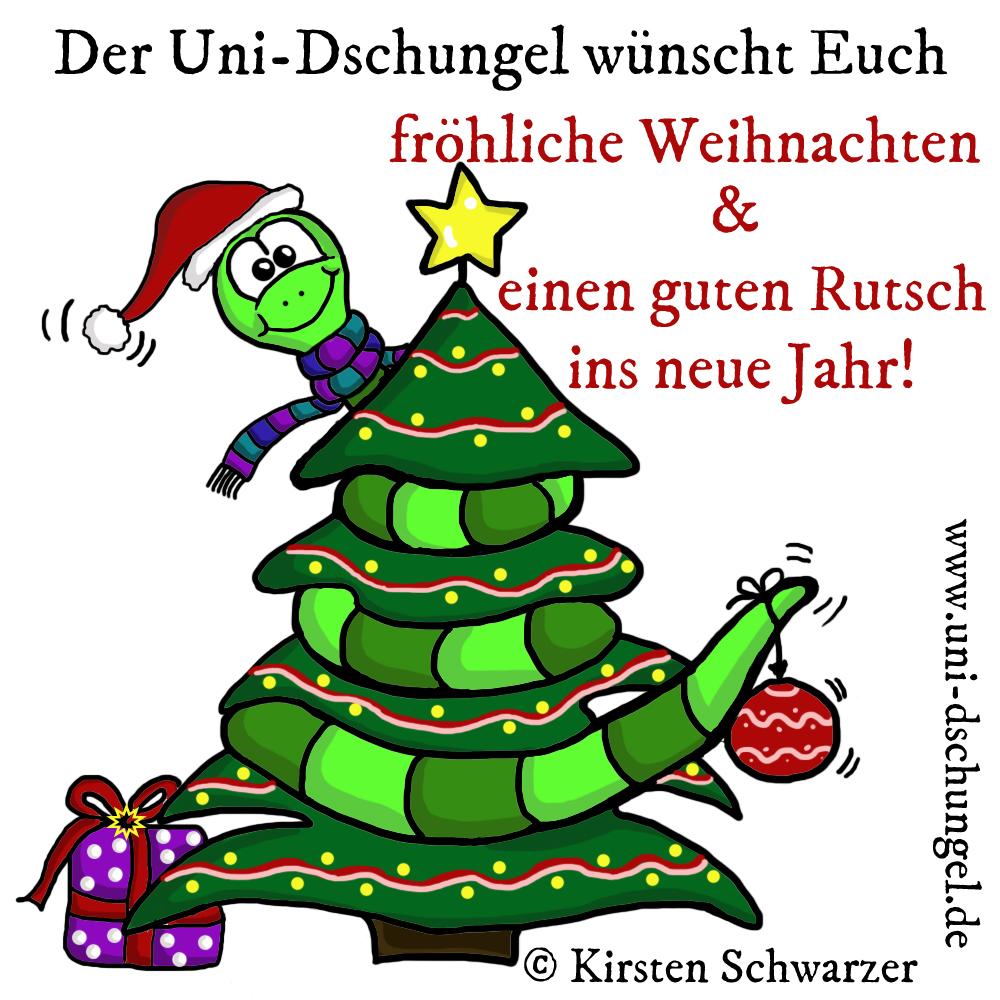 Weihnachtsgrüße aus dem Uni-Dschungel, www.uni-dschungel.de, Kirsten Schwarzer