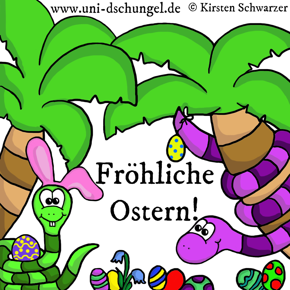 Fröhliche Ostereiersuche im Uni-Dschungel!, www.uni-dschungel.de, Uni-Dschungel Blog, Kirsten Schwarzer