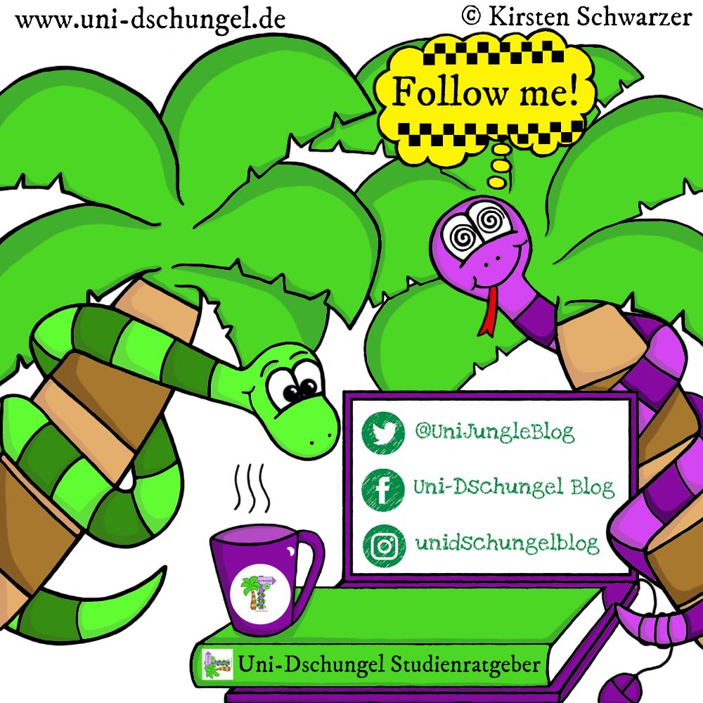 #FollowMe! Die Uni-Dschungel Buschtrommeln, www.uni-dschungel.de, Uni-Dschungel Blog, Kirsten Schwarzer